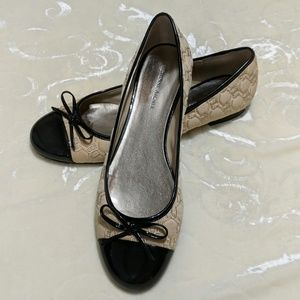 Etienne Aigner quilted and patent flats